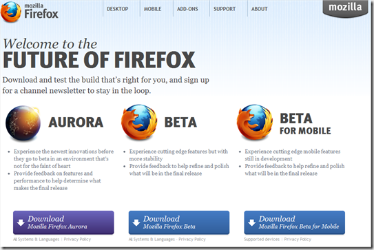 Firefox Future Releases