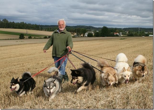Per og de 6 hundene våre 19 aug 2008