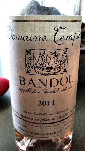 A Bandol Rose' from the Provence region of France.