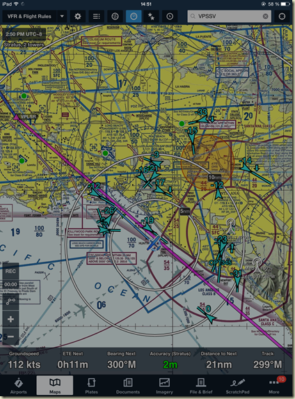 Foreflight trafic Los angeles