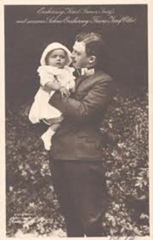Archiduque Carlos con su hijo Otto.