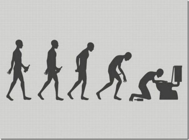 A 'evolução' de quem enche a cara