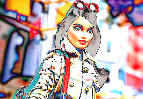 Imagen Barbie al estilo COACH