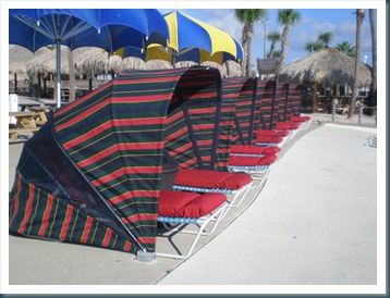 Row of LuxLoungers on Beach.12