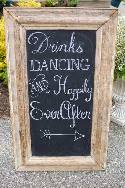 NH wedding flowers 44 handlettered chalkboard