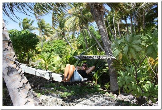 Livia in hammock