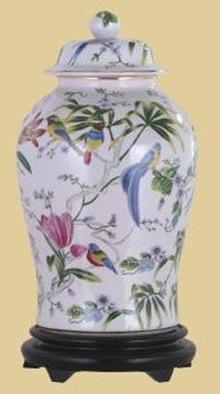 floral temple jar