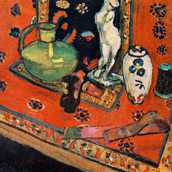 13.- Matisse. Estatuilla sobre alfombra oriental