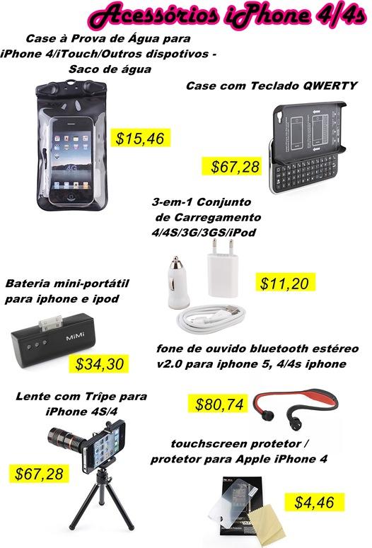 acessórios para iphone 4  4s