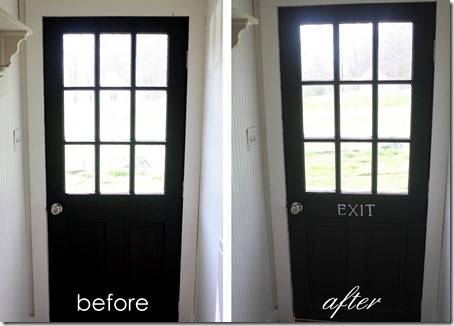 before and after exit door
