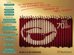 Liquidação do Lápis Vermelho 2012 começa dia 09 de fevereiro. Ofertas com até 70% off.