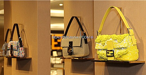 FENDI Baguette Bags Limited  Gialla, Tucano, Paglia, Specchietti, Zucca Jeans BAGUETTE BOOK Fall Winter 2012 2013 ready to wear fur collection accessories  FENDI celebrities FANNWong Singapore flagship store
