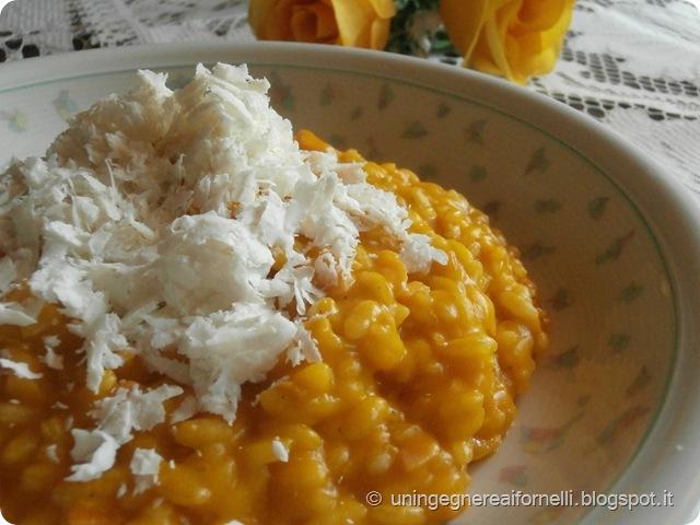 risotto zucca pumpkin rice ricotta salata cheese smoked salmone salmone affumicato primo