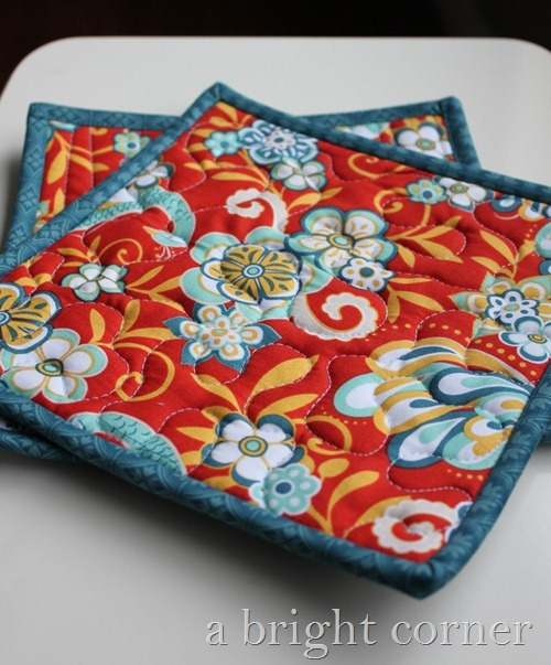Hot Pads using Serenata Fabrics