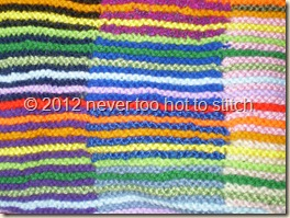 2012 Intarsia blanket striping detail