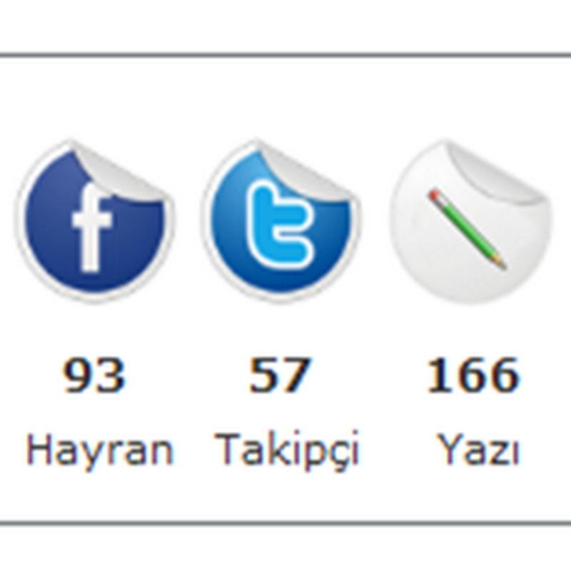 Otomatik Feedburner, Facebook, Twitter, Yazı Ve Yorum Sayacı