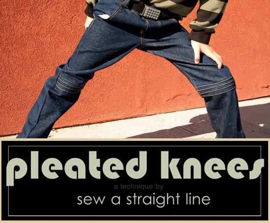 pleated knees Sew a Straight Line-2-4b
