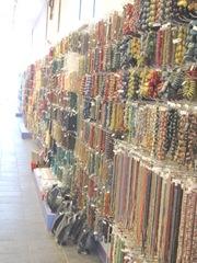 11.2011 Maine Caravan Beads Portland wall of beads 1