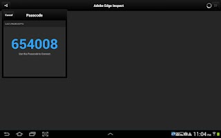 Screenshot of Adobe Edge Inspect CC