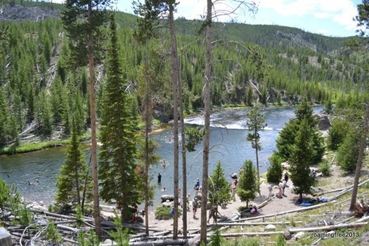 The swimming hole in Firehole Canyon