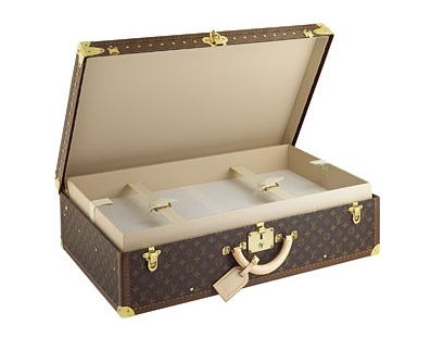 A modern interpretation of the classic Louis Vuitton trunk. You can't get any more polished than this.  (louisvuitton.com)