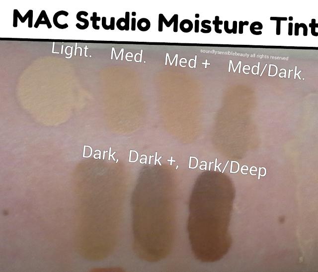 Mac Tinted Moisturizer; Review & Swatches of Shades Light, Medium, Medium Plus, Medium Dark,  Dark, Dark Plus, Dark/Deep