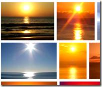 The sun over the ocean