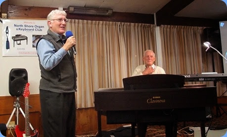 Club President, Gordon Sutherland, proudly introducing our very special guest star, Rendall Miller, who gave us a full Concert on theYamaha Clavinova CVP-509 digital ensemble piano. Photo courtesy of the Club's photographer, Dennis Lyons.