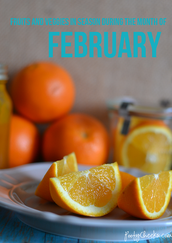 Fruits and Vegetables in season during February