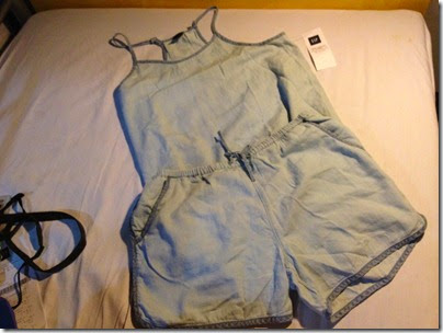 GAP kids chambray spaghetti top and shorts