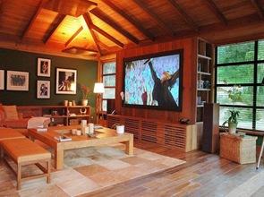 Casa de madera en itaipava cadas arquitectos brasil - Pinturas para casas de madera ...