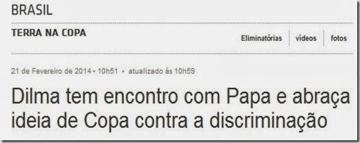 O Papa e a Dilma