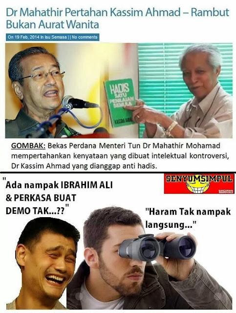 PERKASA sokong Kasim Ahmad Dan Mahathir?