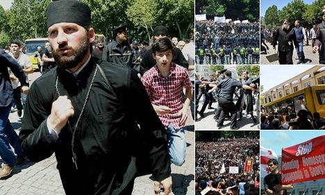 """Просмотр альбома """"Православные против геев. Тбилиси 18 мая 2013 г"""""""