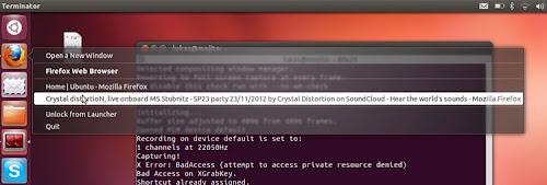 le nuove QuickList su Ubuntu 13.04