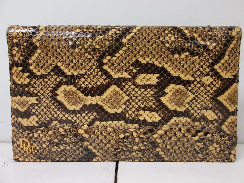 Dior Vintage Snakeskin Clutch