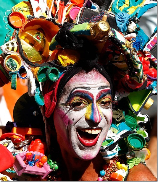 A reveler participates in the Banda de Ipanema parade in Rio de Janeiro. (Silvia Izquierdo/Associated Press)
