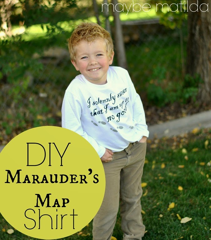 Make a cute and easy Marauder's Map t-shirt with your Silhouette and this free template!