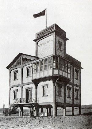 Casa del vigia de la barra del puerto de Huelva. Del libro LA HISTORIA DEL PUERTO DE HUELVA. (1873-1930)