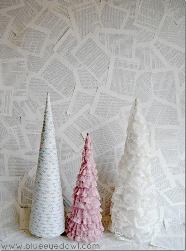 case e interni - decorazioni natalizie fai da te - diy - alberelli conici