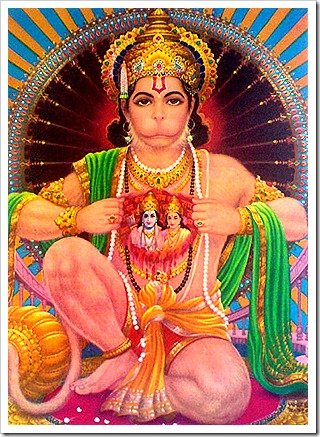 Hanuman - devotee of Sita and Rama