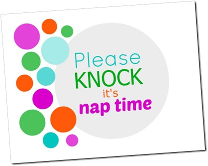 Please knock…it's nap time Printable Sign
