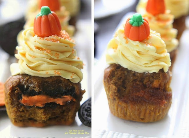 Pumpkin Cupcakes with Maple Cinnamon Frosting @LifeMadeSweeter.jpg