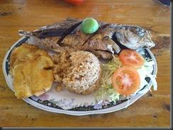 Santa Marta, Colmbia. Arroz de coco com peixe.