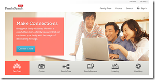 FamilySearch.org new website design