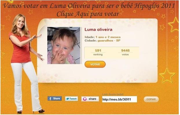Luma Oliveira bb Hipoglós