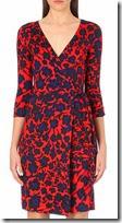 Diane von Furstenberg Red Cheetah Print Dress