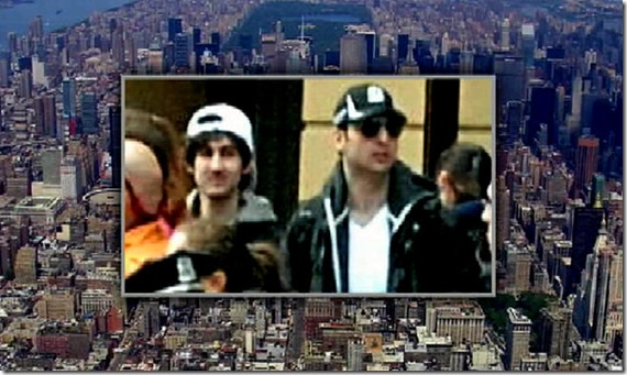 Dzhokhar & Tamerlan Tsarnaev surrounded by Boston