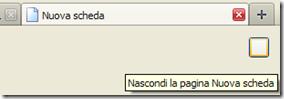 Firefox 13 pulsante Mostra - Nascondi la pagina Nuova scheda