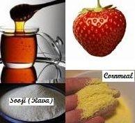 honey-strawberry-cornmeal-or-sooji-scrub